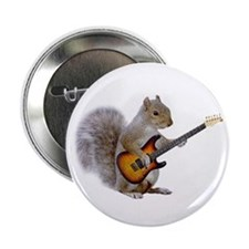 "Squirrel Guitar 2.25"" Button (10 pack)"