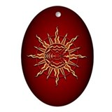 Spiritual Native Art Ornament Tribal Sun Keepsake