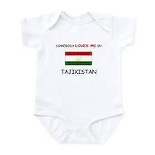 Somebody Loves Me In TAJIKISTAN Infant Bodysuit