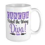 CancerWrongDiva Ceramic Mugs