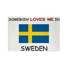 Somebody Loves Me In SWEDEN Rectangle Magnet