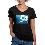 Chain Eye Women's V-Neck Dark T-Shirt
