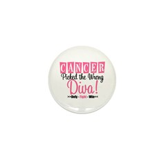 CancerWrongDiva Mini Button (10 pack)