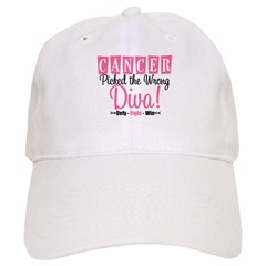 CancerWrongDiva Cap