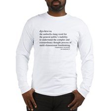 Dyslexia definition Long Sleeve T-Shirt