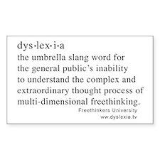 Dyslexia definition Rectangle Decal