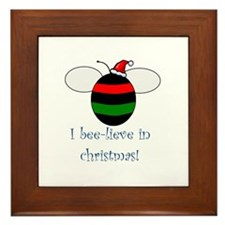 I BEE-LIEVE IN CHRISTMAS Framed Tile