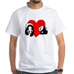Panda Bear Love White T-Shirt