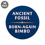 Ancient Fossil Born Again Bimbo 3.5 Button (10pk)