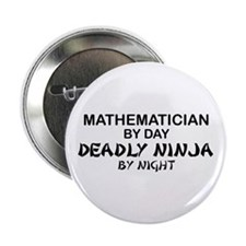 "Mathematician Deadly Ninja 2.25"" Button"