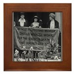 Alice Paul Suffragist Framed Tile