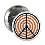 Peace Orange Spiral 2.25&quot; Button (100 pack)