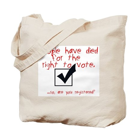 Are You Registered? Tote Bag