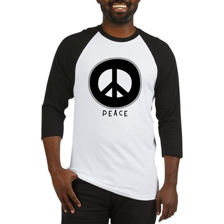 Peace Symbol: Black Men's Baseball Jersey