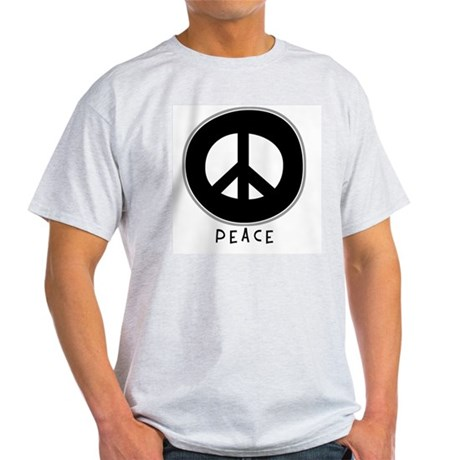 Peace Symbol: Black Ash Grey T-Shirt Men's Light T-Shirt