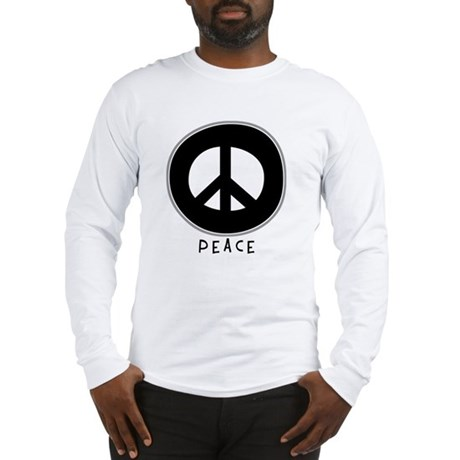 Peace Symbol: Black Men's Long Sleeve T-Shirt