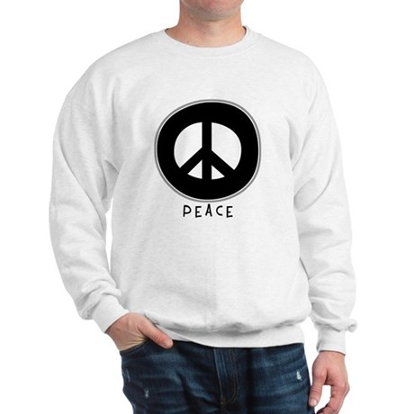 Peace Symbol: Black Men's Sweatshirt