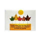 Seasons of Friendship Rectangle Magnet