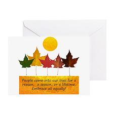 Seasons of Friendship Greeting Card
