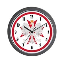Polish Eagle Maltese Cross Wall Clock