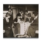 Alice Paul Suffrage Flag Tile Coaster