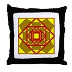 Brown Shield Design Throw Pillow