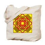 Brown Shield Design Tote Bag