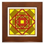 Brown Shield Design Framed Tile