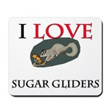 I Love Sugar Gliders Mousepad