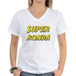 Super ronda Women's V-Neck T-Shirt