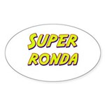 Super ronda Oval Sticker