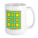 Dutch Gold And Yellow Design Large Mug