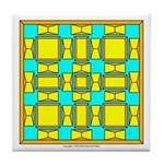 Dutch Gold And Yellow Design Tile Coaster