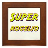 Super rogelio Framed Tile