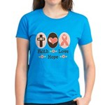 Faith Love Hope Pink Ribbon Women's Dark T-Shirt