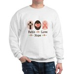 Faith Love Hope Pink Ribbon Sweatshirt