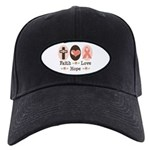 Faith Love Hope Pink Ribbon Black Cap