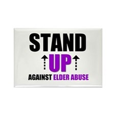 Elder Abuse Stand Up Rectangle Magnet