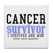 Cancer Survivor Tile Coaster
