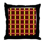 Orange And Yellow Latticework Throw Pillow