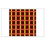 Orange And Yellow Latticework Large Poster