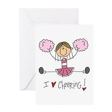 Pink Love Cheering Greeting Card