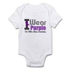 I Wear Purple (Elder Abuse) Infant Bodysuit