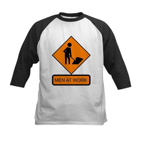 Men at Work 2 Kids Baseball Jersey