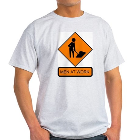 Men at Work 2 Ash Grey T-Shirt