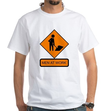 Men at Work 2 White T-Shirt