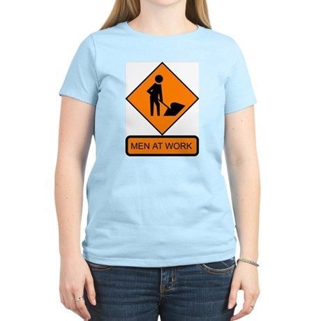 Men at Work 2 Women's Pink T-Shirt