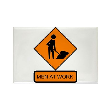 Men at Work Sign 2 - Rectangle Magnet (100 pack)