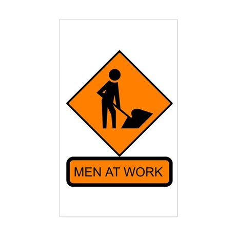 Men at Work Sign 2 - Rectangle Sticker