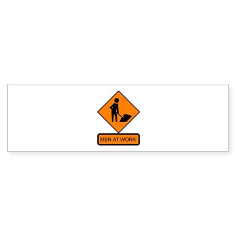 Men at Work Sign 2 - Bumper Sticker